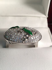 Beautiful  frog   ring  Sterling Silver .925 ring  Micro pave