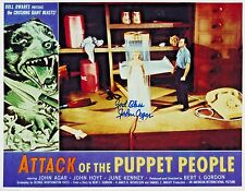 "RARE! John Agar in ""Attack of the Puppet People"" (1958)  8x10 Photo AUTOGRAPHED"