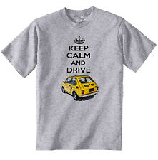MALUCH POLISH FIAT 126 P KEEP CALM 1 - COTTON GREY TSHIRT - ALL SIZES IN STOCK