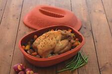 Terracotta Roasting Pot Dish with Lid- KitchenCraft for Meat Casserole Vegetable