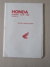 Honda Owners Club Magazine Gold Wing August 1980