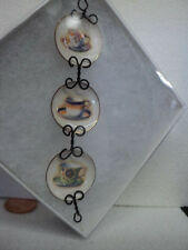 DOLLHOUSE HANGING WALL PLATES/COFFEE CUPS