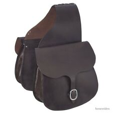 Western Saddle Bags - Dark Oil Leather