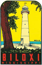 Biloxi, MS  -Vintage 1960's Style  Travel Decal/Sticker