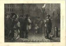 1875 Going To Midnight Mass 16th Century France