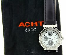 Exte Acht Chronograph/Worldtime/Rotating Bezel/White dial/Stainless Steel Watch