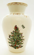 "Spode Christmas Tree Gold Vase 8"" NEW"
