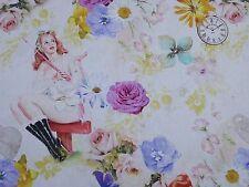 Vintage Fleur Filles Femmes Designer Rideau Upholstery craft tissu