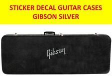 GIBSO SILVER STICKER GUITAR CASES VISIT MY STORE FOR DECORATION GUITAR & BASS