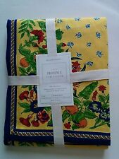NWT Williams Sonoma Nappe Provence Tablecloth 70x108 Yellow Floral Fruits
