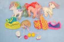 Lot of 3 Vintage  My Little Pony unicorn and clothes horses 1983 collect