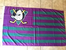 MIGHTY DUCKS ANAHEIM CA 5FT FLAG NHL TAILGATE MAN CAVE STANLEY CUP RETRO HOCKEY