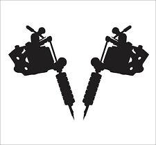 Set of Tattoo Machine Decals stickers gun window shop art graphic
