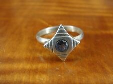 Purple Stone Star Like Sterling Silver 925 Ring Size 7