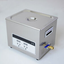 STON 220V Stainless Steel Ultrasonic Cleaner 10L Digital Timer Heated Cleaning