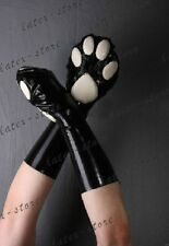 689 Latex Gummi Rubber Cat Gloves Mittens customized catsuit 0.4mm cosplay cool