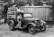 Vintage Old  Ford Model A Truck photo Farm truck 1930s depression dust bowl