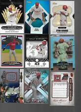 Lot of 11, All Ryan Howard High End Inserts #ed/25 Refractor Super Rare Epic