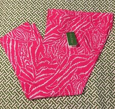 Lilly Pulitzer NWT luxury Capri Pants Splash Pink $168 ~ Show Your Stripes Sz 8