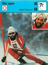 FICHE CARD : Heini Hemmi SWITZERLAND SUISSE  Alpine skiing SKI ALPIN 70s