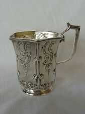 Antique Coin Silver Stebbins & Co Tankard Or Cup