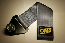OMP Towing strap - GREY - Towing eye, race drift track jdm.