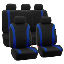 BLUE & Black Cosmopolitan Flat Cloth Seat Covers Airbage Compatible For Honda