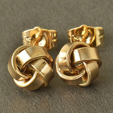 Womens New Authentic 9K Solid Gold Filled Love-Knot Stud Earrings Wholesale