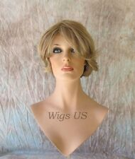 Short Wig 100% Indian Remy Human Hair Classic Bob Page Dark Blonde Mix Wigs US