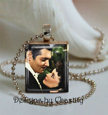 Gone with the Wind Necklace Charm Scarlett O'Hara and Rhett Charity Dance