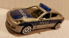Majorette 209B 1/64th Porsche Panamera 970 POLICE  Silver Blue NEW diecast model