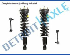 Front Left & Right Complete Strut Assembly + Sway Links - 2WD Coil Spring Only