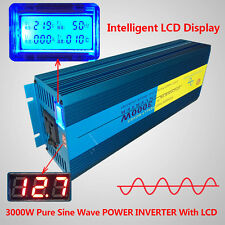 LED Pure Sine Wave power inverter 2500W Peak 5000W DC 12V TO AC 220V - 240V