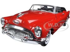 1953 BUICK SKYLARK CONVERTIBLE RED 1/24 DIECAST CAR MODEL BY WELLY 24027