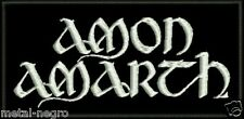 AMON AMARTH EMBROIDERED PATCH NILE MORBID ANGEL ENSLAVED DISSECTION Metal Negro
