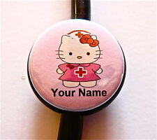 ID STETHOSCOPE NAME TAG SWEET NURSE HELLO KITTY  MEDICAL, DOCTOR,RN,NICU,TECH