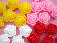 20 Rose Resin 4D Flatback Button/scrapbooking/flower/Craft/Embellishment/bow B92
