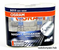OSRAM H11 12V 55W  Night Breaker UNLIMITED +110% 2ST- Nightbreaker ++NEU++