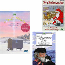 2 Children's Christmas DVDs The Mousehole Cat|A Small Miracle|On Christmas Eve