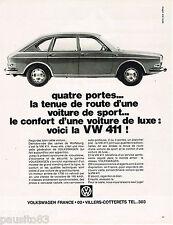 PUBLICITE ADVERTISING 055  1968  VOLKSWAGEN   la VW 411
