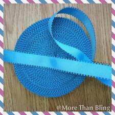 2 METRO BLUE WAVE bordo nastro di seta grossa taglia 7/8 FIOCCHI Cerchietti capelli