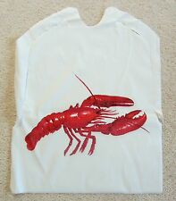 LOT of 25 Disposable Plastic LOBSTER Bibs with ties Seafood Crab Bake Feast