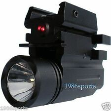 Hot Cree Led Flashlight+Red Dot Laser Sight for pistol/Glock 17 19 20 21 22