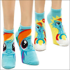 My Little Pony Rainbow Dash Ankle Socks 2-PAIRS OFFICIAL LICENSED 2-PACK