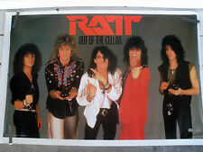 RARE RATT OUT OF THE CELLAR 1984 VINTAGE ORIGINAL MUSIC POSTER