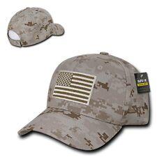 Desert Camo USA US American Flag Patch Military Combat Tactical Operator Cap Hat