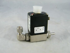 "NEW ~ THERMO FISHER, SWAGELOK ~ SS SOLENOID VALVE ~ PART # 104241-02  1/4"" ELBOW"