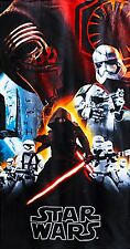 Star Wars The Force Awakens Beach Towel measures 30 x 60 inches