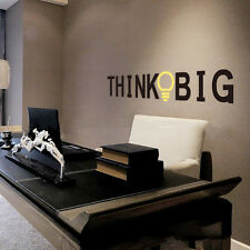 Think Big Quote Wall Stickers Inspirational Removable Art Vinyl Home Decal