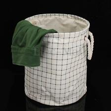 Foldable Sorter Cotton Linen Storage Bag Washing Clothes Laundry Basket Hamper